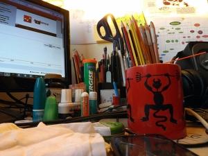 Boris's desk
